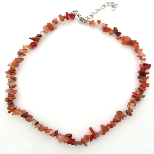 Picture of Necklace - Semi Precious Chipped Stone (Carnelian)