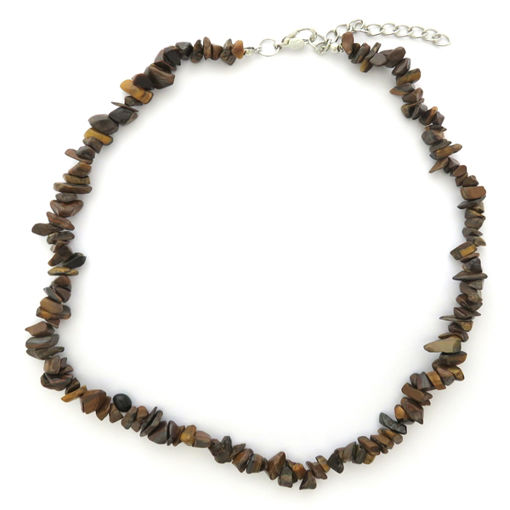 Picture of Necklace - Semi-precious Chipped Stone (Tigers Eye)