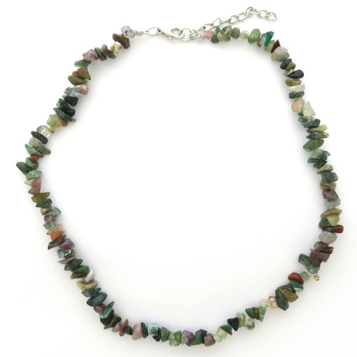 Picture of Necklace - Semi-precious Chipped Stone (Unakite)
