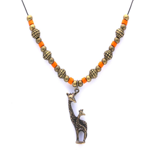 Picture of Choker - Metal & Wood (Giraffe)