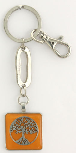 Picture of Key Ring - Tree of Life (Orange)