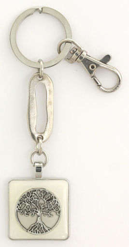 Picture of Key Ring - Tree of Life (White)