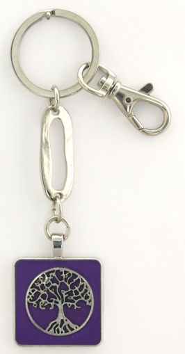Picture of Key Ring - Tree of Life (Purple)