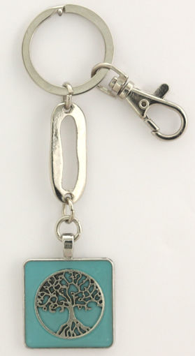 Picture of Key Ring - Tree of Life (Turquoise)