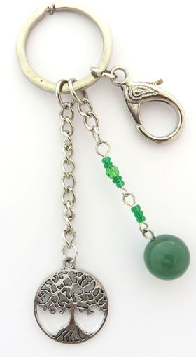 Picture of Key Ring - Tree of Life (Aventurine)