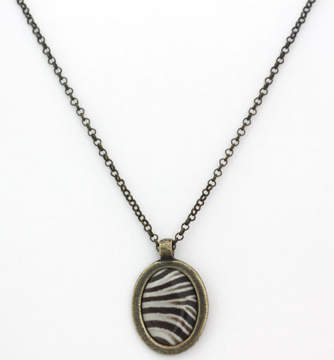 Picture of Necklace - Animal Print (Zebra)