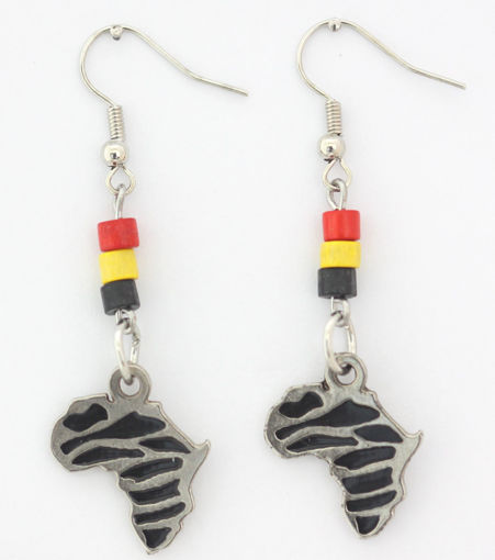 Picture of Earrings - Bone Beaded (Africa)