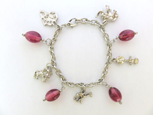 Picture of Charm Bracelet - Wildlife (Pink Beads)