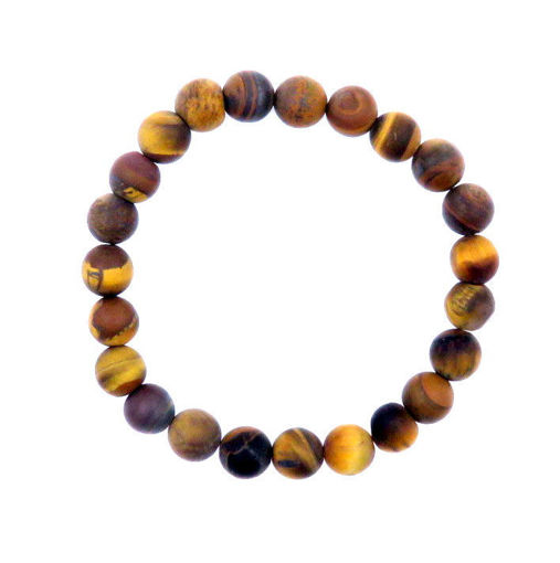 Picture of Bracelet - Unpolished Stone (Tigers Eye)
