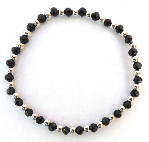 Picture of Bracelet - Black Beaded Elastic