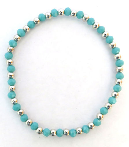 Picture of Bracelet - Turquoise Beaded Elastic