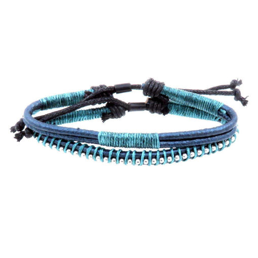 Picture of Bracelets - Leather (Turquoise)