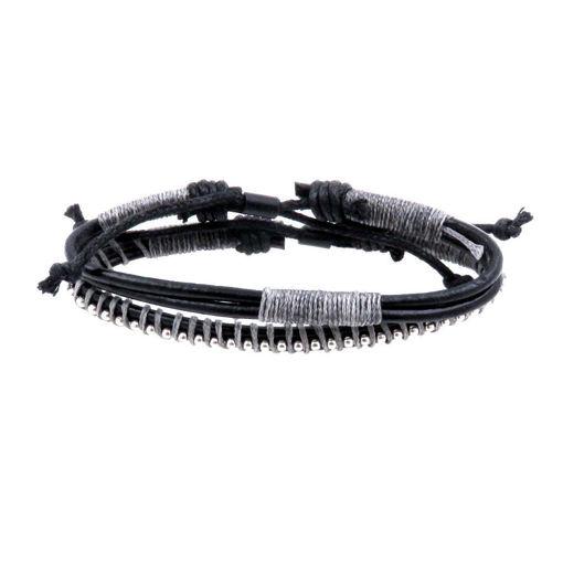 Picture of Bracelets - Leather (Khaki/Black)