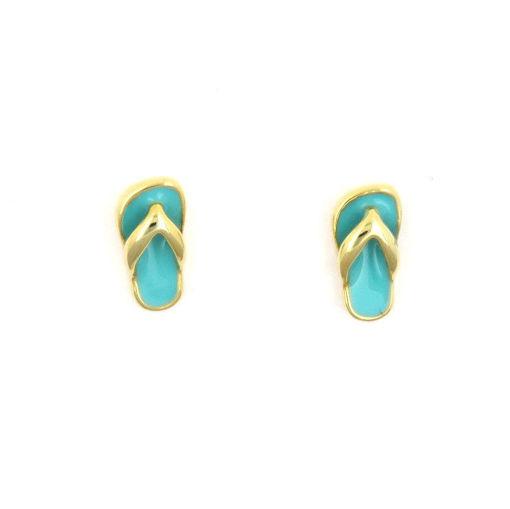 Picture of Children's Earrings - Stud (Slipper)