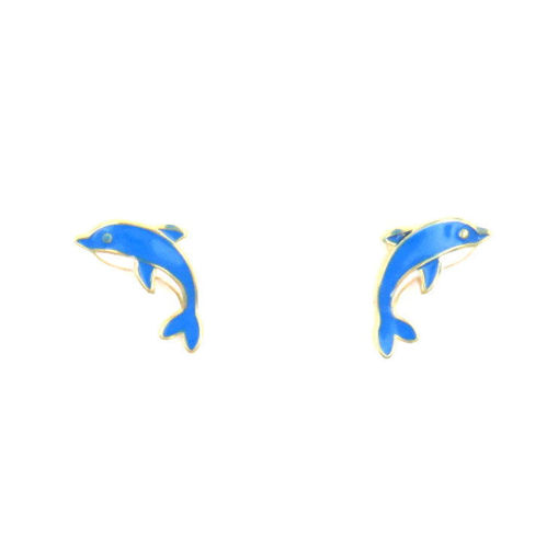Picture of Children's Earrings - Stud (Dolphin)