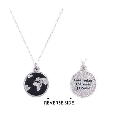 Picture of Choker - Black Globe on Chain
