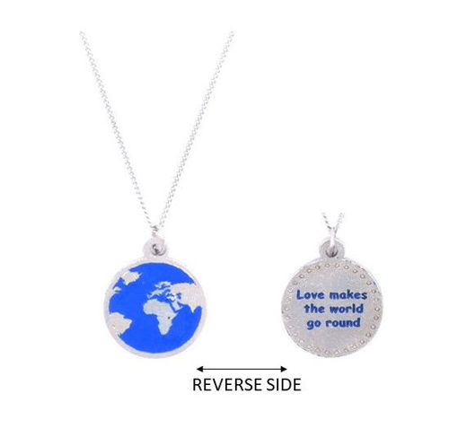 Picture of Choker - Blue Globe on Chain