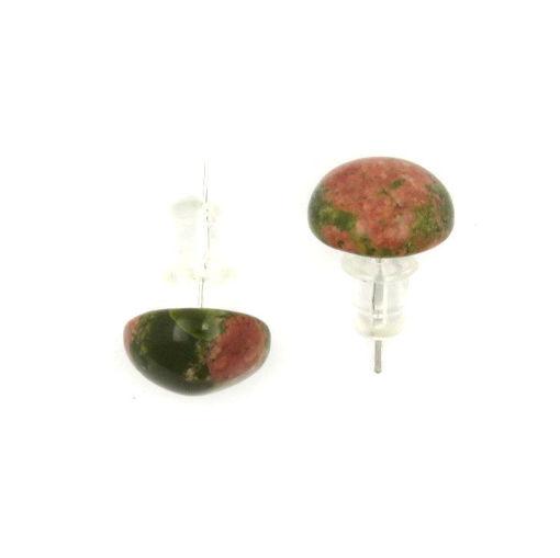 Picture of Earrings - Stone Stud (Rhodonite)