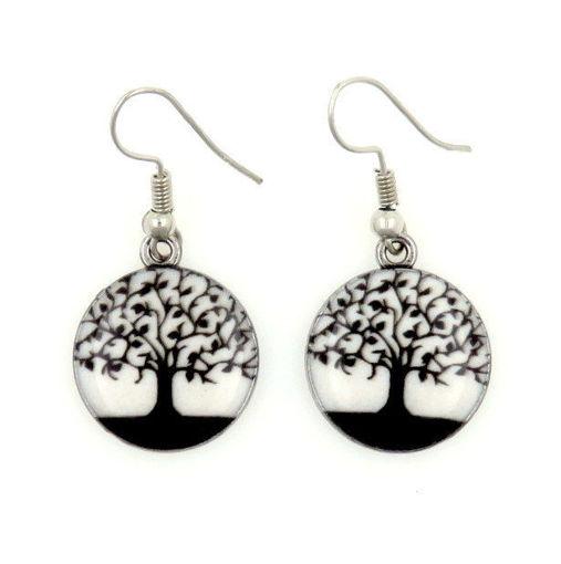 Picture of Earrings - Tree (Enamel)