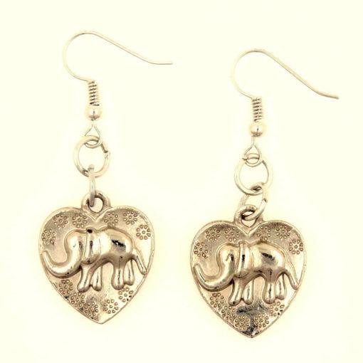 Picture of Earrings - Elephant / Heart