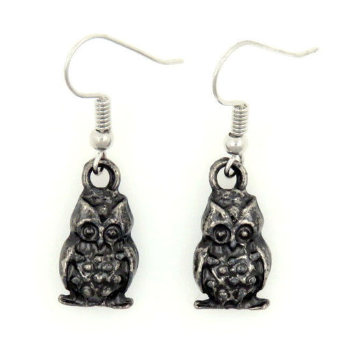 Picture of Earrings - Owl (Antique Nickel)