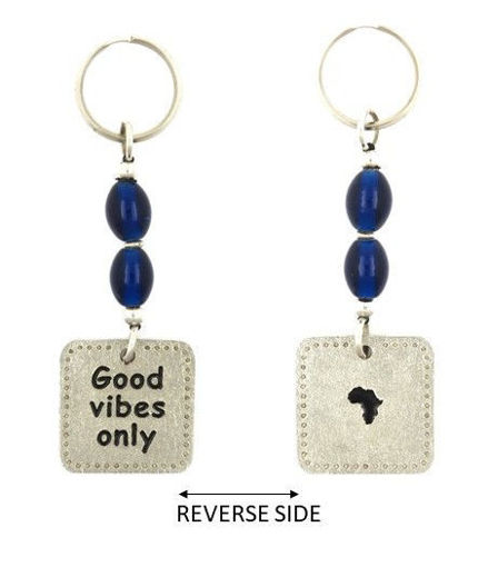 Picture of Key Ring - Good Vibes with Glass Beads