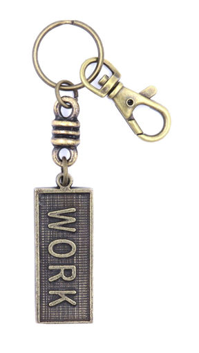 Picture of Key Ring - Name with Clip (WORK/SA flag)