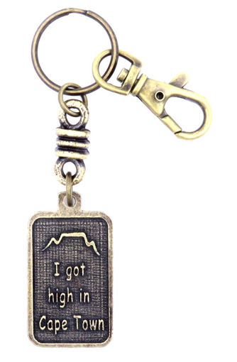 Picture of Key Ring - Name with Clip (I Got/SA flag)