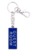 Picture of Key Ring - Name with Clip (GUEST ROOM/SA flag)  Painted BLUE