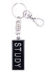 Picture of Key Ring - Name with Clip (STUDY/SA flag) Painted BLACK