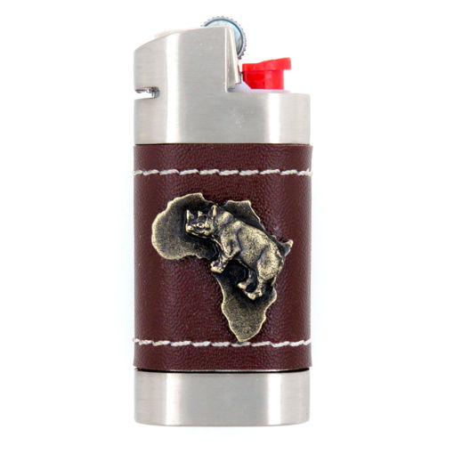 Picture of Leather Lighter Cover - Africa / Rhino