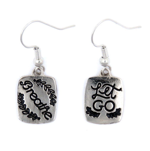 Picture of Earrings - Breathe / Let Go (Antique Nickel)