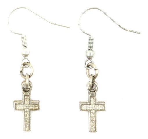 Picture of Earrings - Cross (Plain)