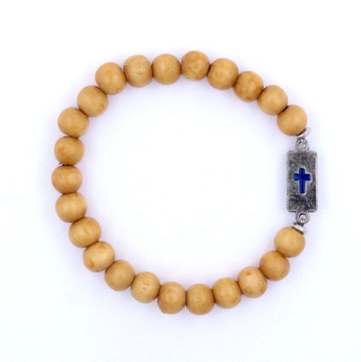 Picture of Bracelet - Cross (Tan Wood)