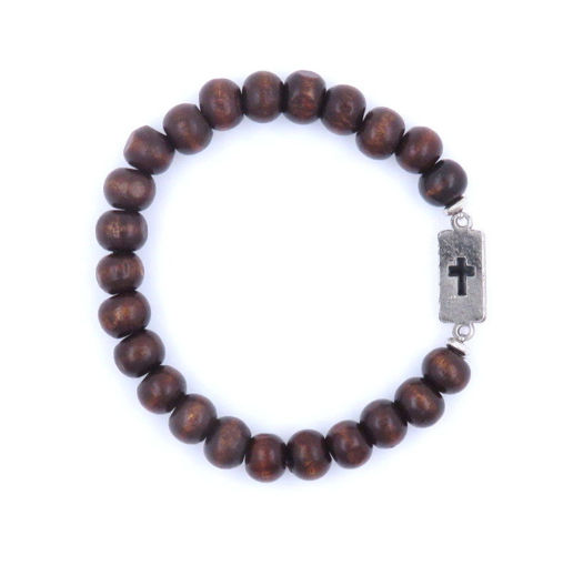 Picture of Bracelet - Cross (Brown Wood)