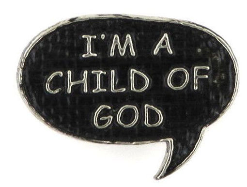 Picture of Lapel Pin - CHILD OF GOD (Painted)