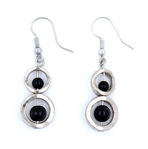Picture of Earrings - Stone / Metal (Black Onyx)
