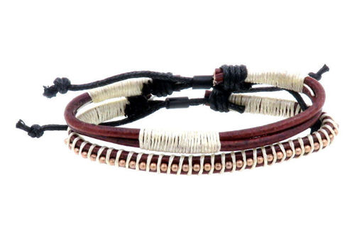 Picture of Bracelets - Leather  (Brown/Creme)
